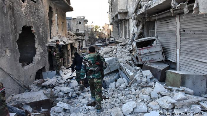 Syrien syrische Armee in Aleppo (Getty Images/AFP/G. Ourfalian)