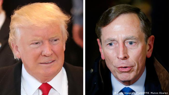 Kombobild Donald Trump und David Patraeus (Getty Images/S. Platt/AFP/E. Munoz Alvarez)