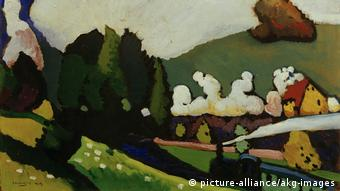 Kandinsky, Landschaft mit Lokomotive (picture-alliance/akg-images)