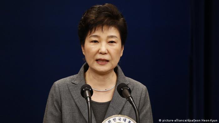 Südkorea Rede von Präsidentin Park Geun-Hye