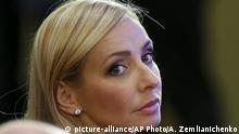 21.10.2015 Former figure skater Olympic champion Tatiana Navka attends the World Olympians Forum in Moscow, Russia, Wednesday, Oct. 21, 2015. (AP Photo/Alexander Zemlianichenko, Pool)  