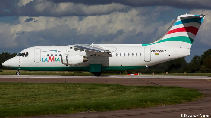 Flugzeug Lamia Avro RJ85 (Reuters/M. Varley)