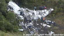 Kolumbien Flugzeug Absturzstelle