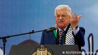 Westjordanland Präsident von Palestina Mahmoud Abbas hält eine Rede zum 12. Todestag Yasser Arafat