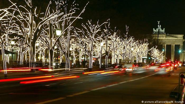 Weihnachtsdeko am Brandenburger Tor
