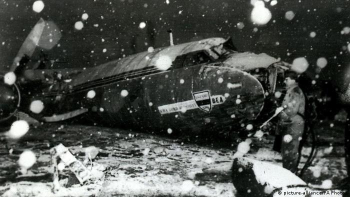 Flugzeugunglück der Mannschaft von Manchester United in München 1958 (picture-alliance/PA Photos)