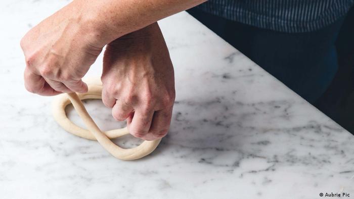 Luisa Weiss making German soft pretzels