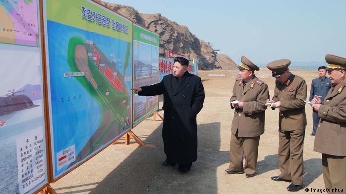 Nordkorea Besuch Kim Jong-Un (imago/Xinhua)