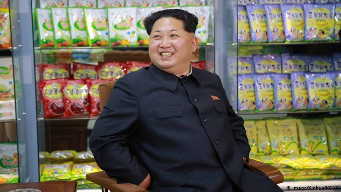 Nordkorea Besuch Kim Jong-Un Produktionstätte Lebensmittel (Imago/Xinhua/KCNA)