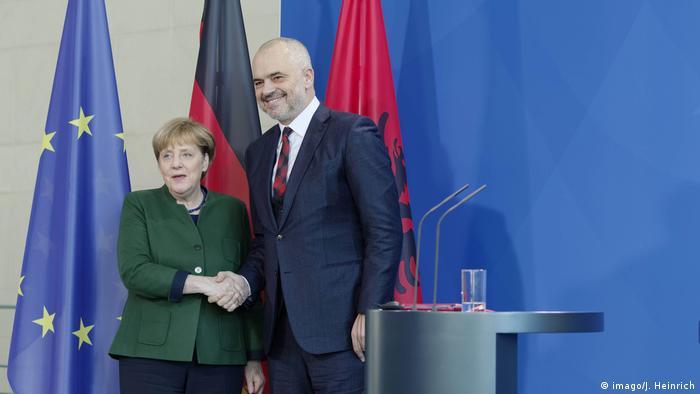 Angela Merkel empfängt Edi Rama in Berlin