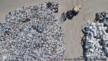 Drohnenbild Recycling von Elektrogeräten wird ausgeweitet