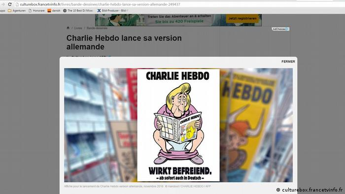 Charlie Hebdo poster for German edition (culturebox.francetvinfo.fr)