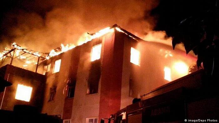 fire in southern Turkey Dormitory kills 12