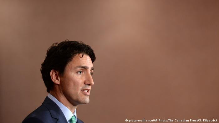 Japan Kanada Justin Trudeau PK in Shima (picture-alliance/AP Photo/The Canadian Press/S. Kilpatrick)