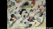 W.Kandinsky, Erstes abstraktes Aquarell Kandinsky, Wassily, 1866-1944. 'Ohne Titel (Erstes abstraktes Aquarell)', 1910 (1913). Bleistift, Aquarell und Tusche auf Papier, 50 x 65 cm. Centre Georges Pompidou, Paris, Musee National d'Art Moderne. E: Kandinsky / First Abstract Watercolour Kandinsky, Wassily, 1866-1944. 'Untitled (First Abstract Watercolour)', 1910 (1913). Pencil, watercolour and India ink on paper, 50 x 65 cm. Centre Georges Pompidou, Paris, Musee National d'Art Moderne.  