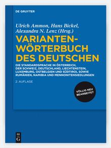 Capa da segunda edição do dicionário de variantes do alemão
