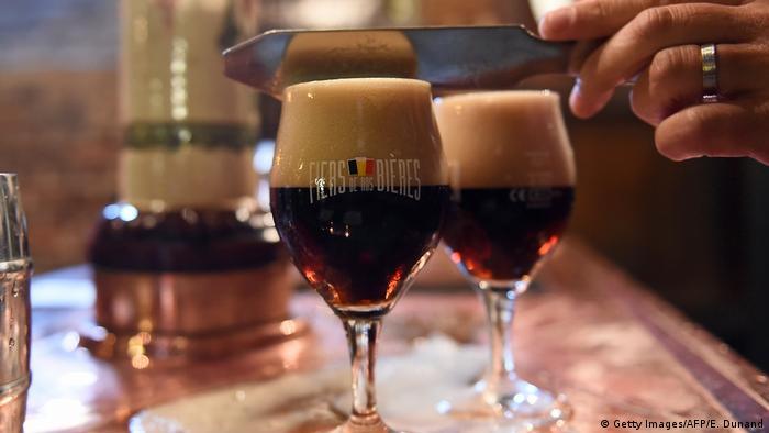 Frisch gezapftes belgisches Bier