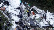 November 29, 2016*** Rescue crew work at the wreckage from a plane that crashed into Colombian jungle with Brazilian soccer team Chapecoense near Medellin, Colombia, November 29, 2016. REUTERS/Fredy Builes