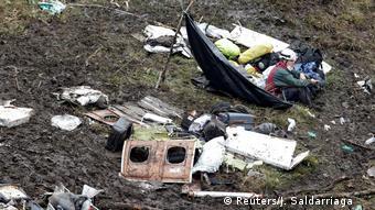 Kolumbien Absturzstelle des LaMia Flugzeugs