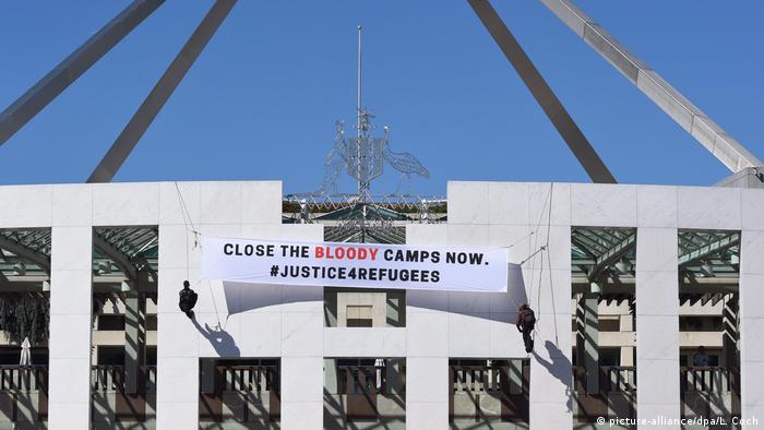 Australien Justice4refugees Protest in Canberra