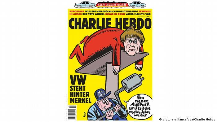Charlie Hebdo kommt nach Deutschland Titelseite