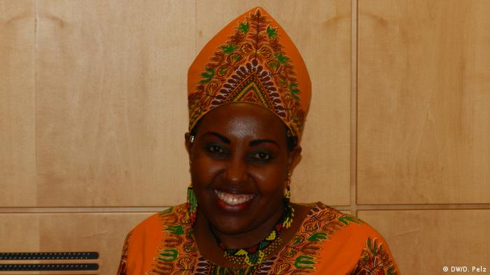Jemimah Kutata during a conference in the German ministry for development cooperation.