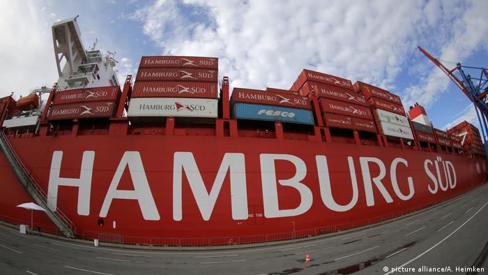 Container der Reederei Hamburg Süd
