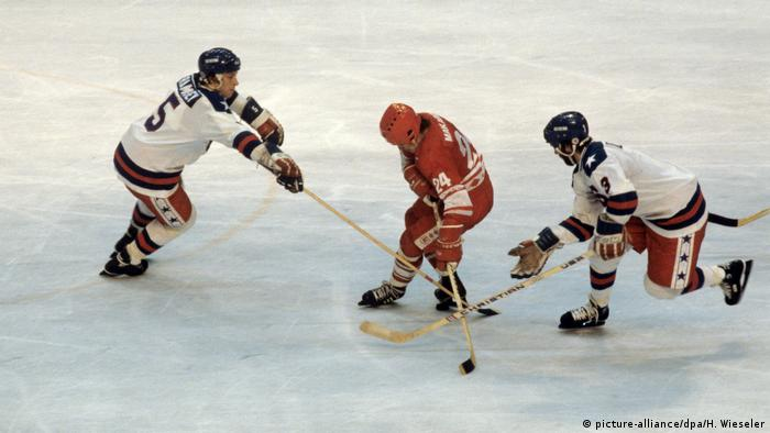 Lake Placid 1980 Eishockey USA Sowjetunion Miracle on Ice (picture-alliance/dpa/H. Wieseler)
