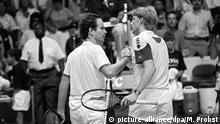 Tennis Boris Becker John McEnroe 1987 in Hartford