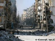 Разрушенный восточный Алеппо