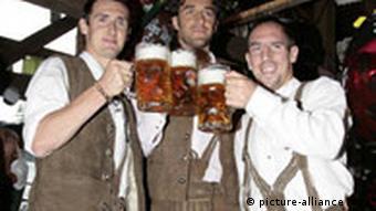 Гравці Баварії на Октоберфесті