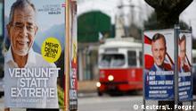 Österreich Präsidentschaftswahlen Wahlplakate