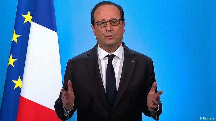 Frankreich TV Ansprache Francois Hollande (Reuters)
