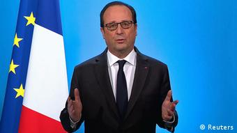 Frankreich TV Ansprache Francois Hollande