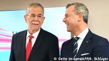 Österreich Bundespräsidentenwahl TV-Duell - van der Bellen & Norbert Hofer
