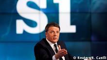 Italien Ministerpräsident Matteo Renzi in Rai TV