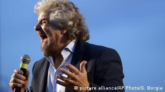 Italien Referendum Beppe Grillo