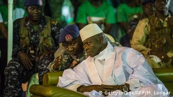 President Jammeh talking to a military officer