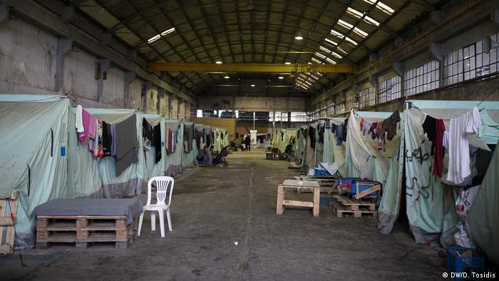Lage der Flüchtlinge in Thessaloniki