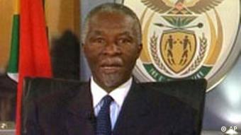 Mbeki (Quelle: AP Photo/ SA Govt via APTN)