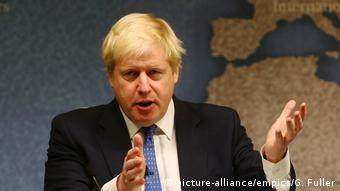 Boris Johnson Chatham House (picture-alliance/empics/G. Fuller)