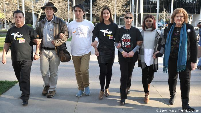 Relatives of the MH730 crash victims in Canberra, Australia, in September