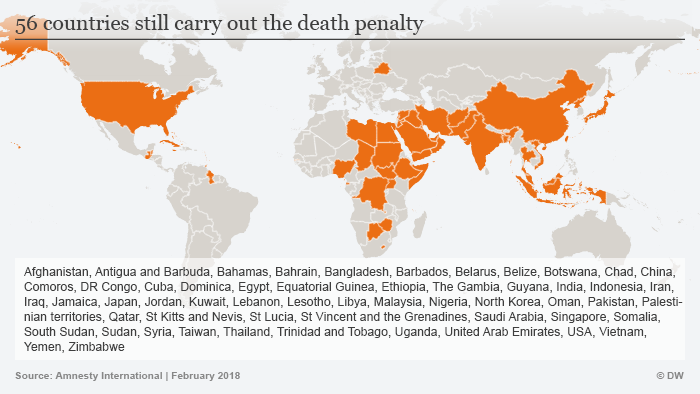 Graphic: Dealth penalty worldwide ENGLISCH