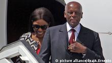 epa04263826 President of Angola, José Eduardo Dos Santos, arrives to Havana, Cuba, 17 June 2014, during an official visit where he will meet with his Cuban counterpart, Raúl Castro. EPA/Alejandro Ernesto |