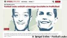 Screenshot Spiegel Online - Football Leaks