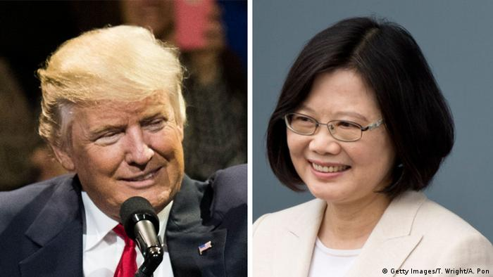 Kombobild Trump und Tsai Ing-wen (Getty Images/T. Wright/A. Pon)