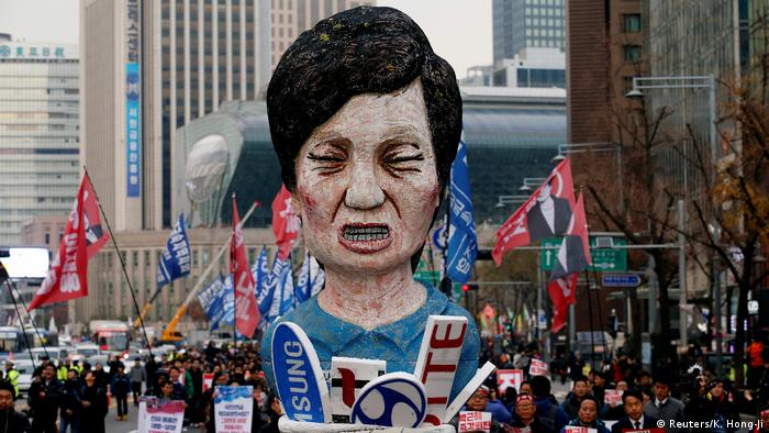 Protest against Park Geun-Hye (Reuters/K. Hong-Ji)