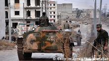 Syrien Aleppo Sakan al-Shababi Regierungstruppen