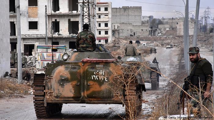 Syrien Aleppo Sakan al-Shababi Regierungstruppen (Getty Images/AFP/G. Ourfalian)