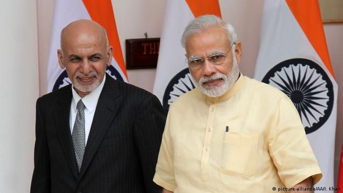 Afghan President Ashraf Ghani and Indian PM Narendra Modi